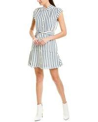 10 Crosby Derek Lam Striped Shirtdress - White
