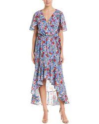 Parker Hi-low Wrap Maxi Dress - Multicolour