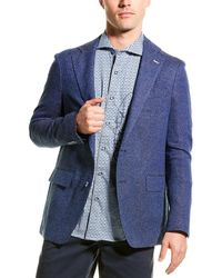 Robert Graham Trinity Woven Linen-blend Sport Coat - Blue
