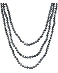 Splendid 4-6mm Pearl Endless 64in Necklace - Metallic