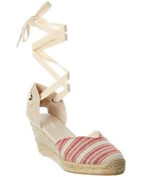 Soludos Lyon Canvas Espadrille Sandal - Red