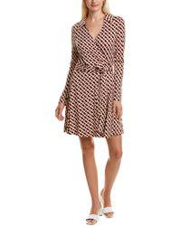 Diane von Furstenberg T/73 Silk-jersey Mini Wrap Dress - Multicolour