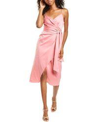 Diane von Furstenberg Avila Sleeveless Wrap Midi Dress - Pink