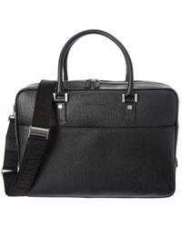 Ferragamo Revival Single Gusset Leather Briefcase