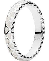 PANDORA Silver & Enamel Abundance Of Love Ring - Metallic