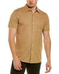 Karl Lagerfeld Alphabet Print Button-down Shirt - Brown