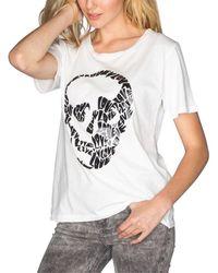 Chrldr Skullove Wide T-shirt - White