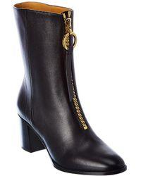 Dior Effrontee Leather Boot - Black