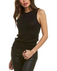 Theory Sleeveless Linen-blend Shell - Black