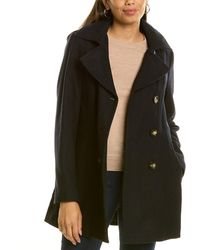 Nautica Double-breasted Wool-blend Peacoat - Blue