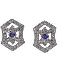 Effy - Fine Jewelry 14k 0.83 Ct. Tw. Diamond & Tanzanite Studs - Lyst