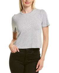 BCBGeneration Puff Sleeve T-shirt - Grey