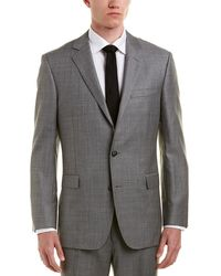 Brooks Brothers 1818 Regent Fit Wool Suit With Flat Front Pant - Grey
