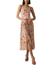 Reiss Corinne Midi Dress - Pink