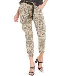 Pam & Gela Tiger Cargo Jogger Pant - Grey