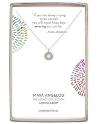 Dogeared Maya Angelou Collection Silver Necklace - Metallic
