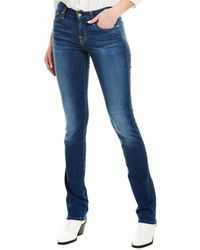 7 For All Mankind 7 For All Mankind Kimmie Duc Straight Leg - Blue