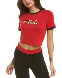 Fila Dunne Cropped T-shirt - Red