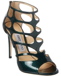 Jimmy Choo Ren 100 Patent Sandal - Green