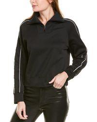 Moncler 1/4-zip Funnel Neck Sweatershirt - Black