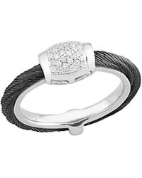 Alor Noir 18k 0.14 Ct. Tw. Diamond Ring - Metallic