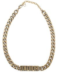 Dior Logo Choker Necklace - Metallic