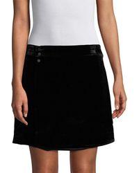 BCBGMAXAZRIA Albie Velvet Mini Skirt - Black