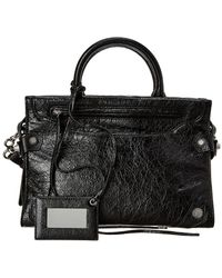 Balenciaga Blackout City Small Leather Shoulder Bag