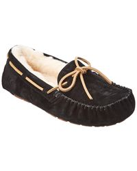 UGG Dakota Water-resistant Suede Slipper - Black