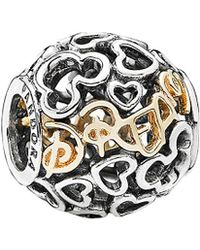 PANDORA Disney Jewellery Collection 14k & Silver Dream Charm - Metallic
