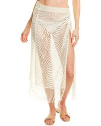 Ramy Brook Deetra Cover-up Skirt - Metallic