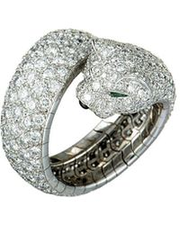 Cartier - Cartier 18k 6.52 Ct. Tw. Diamond & Gemstone Panther Ring - Lyst