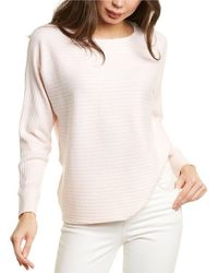 Forte High-low Rib Cashmere-blend Pullover - White