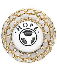PANDORA Essence Collection 14k & Silver Crystal Hope Charm - Metallic
