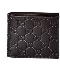Gucci Signature Leather Coin Wallet - Black