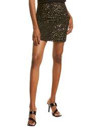 Elie Tahari Cici Sequin Mini Skirt - Black