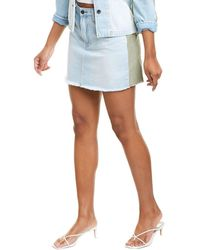 FRAME Denim Le Cargo Mini Skirt - Blue