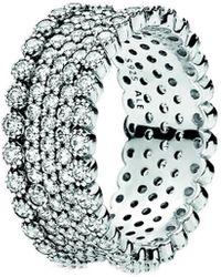PANDORA Silver Cz Sparkling Pave Band Ring - Metallic