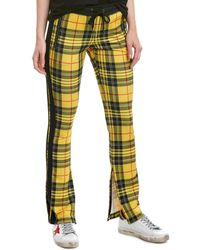 Pam & Gela Plaid Skinny Pant - Yellow