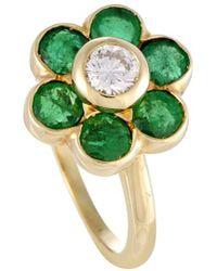 Heritage Van Cleef & Arpels - Van Cleef & Arpels 18k 1.25 Ct. Tw. Emerald And Diamond Ring - Lyst
