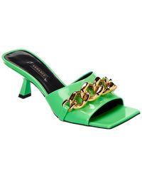 Versace Medusa Chain Patent Sandal - Green