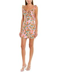 Finders Keepers Finderskeepers Aranciata Linen-blend Shift Dress - Pink