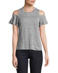 Rebecca Taylor Cold-shoulder Jersey T-shirt - Grey