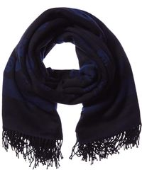 Alexander McQueen Wool & Cashmere-blend Scarf - Blue