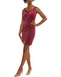 Elie Tahari Silk-trim Sheath Dress - Purple