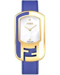 Fendi Chameleon Diamond Watch - Blue