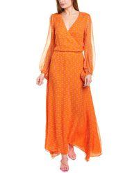 Adriana Degreas Silk Maxi Dress - Orange