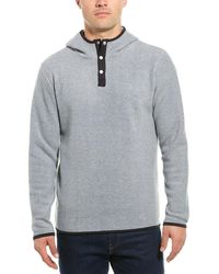 Threads For Thought Nichols Fleece Henley Hoodie - Gray