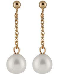 Splendid - 14k 7-8mm Freshwater Pearl Drop Earrings - Lyst