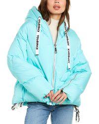 Khrisjoy Hooded Puffer Jacket - Blue